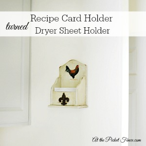 300x300 recipe card holder turned dryer sheet holder