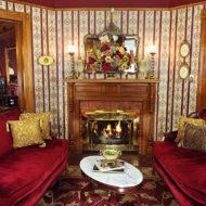 Cedar House Inn Parlor Fireplace