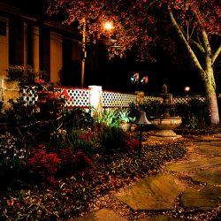 Cedar House Inn - back yard lights