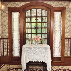 Cedar House Inn Wedding - Tiffany Window