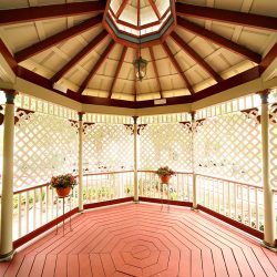 Cedar House Inn Wedding - gazebo