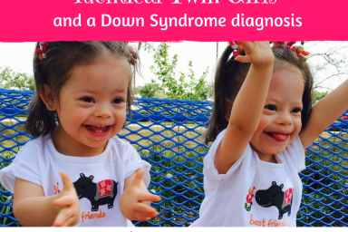 identical twin girls with Down syndrome diagnosis