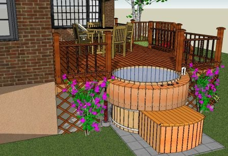 hot tub designs | tubs in decks on Deck And Hot Tub Ideas  id=33382
