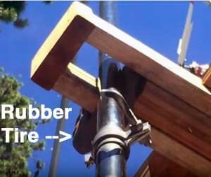 Rubber-tire-in-brace