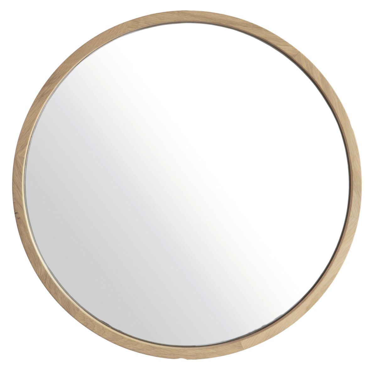 Line Art Miroir Rond Chene Diametre 120 Cm Ref 0139 Cedeo