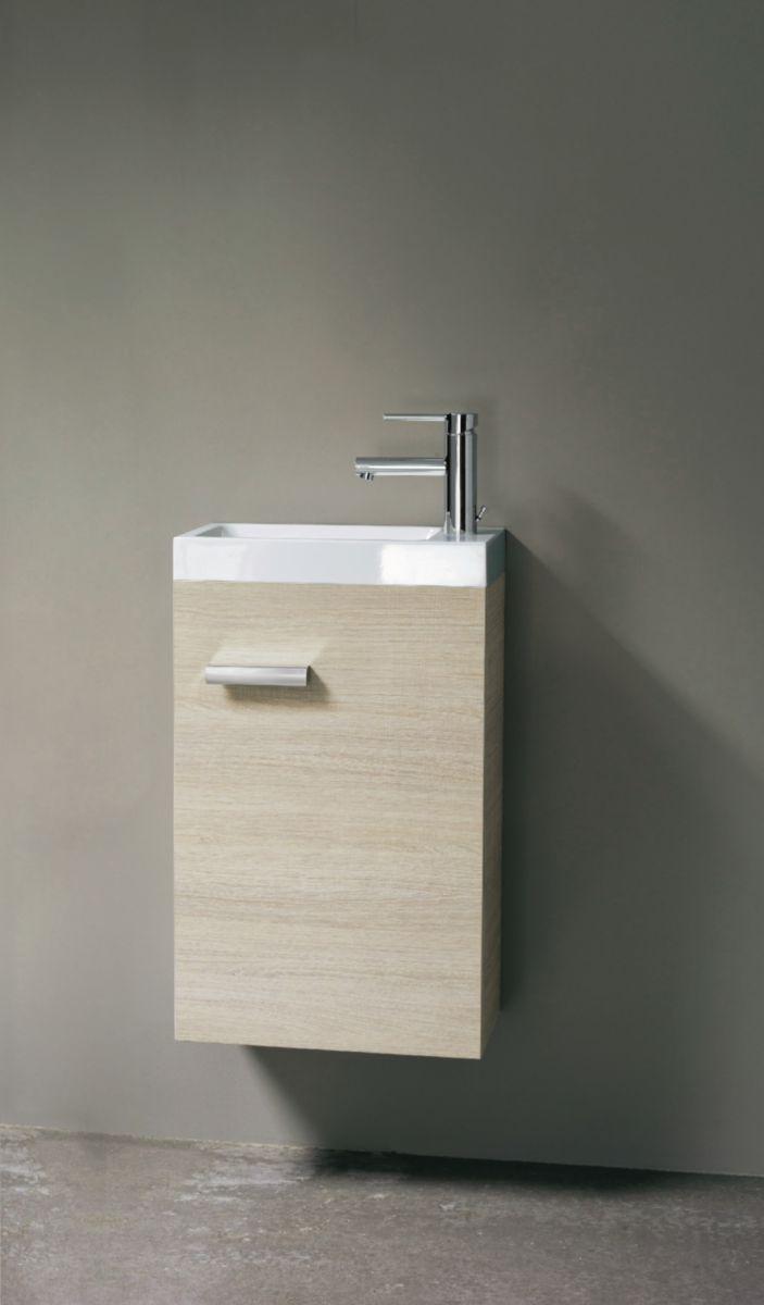 alterna meuble lave mains 1 porte 40