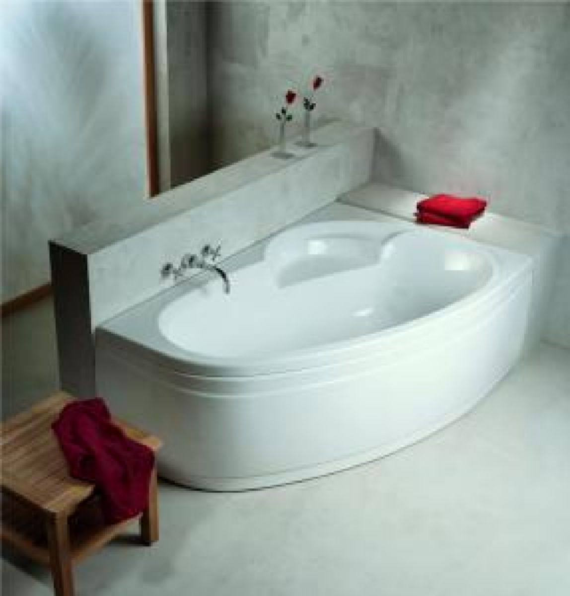 baignoire asymetrique ladiva junior 160x100 cm gauche avec tablier vidage standard non fourni