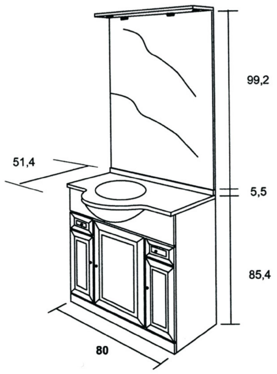 ALTERNA Meuble Sous Vasque TOLEDE 2 Blanc 80 Cm 3