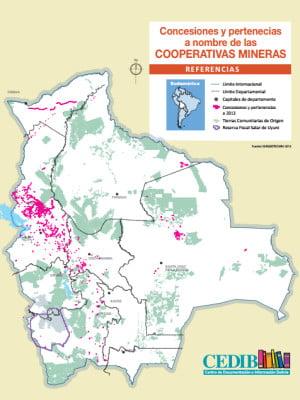 Concesiones y pertenecias a nombre de las COOPERATIVAS MINERAS