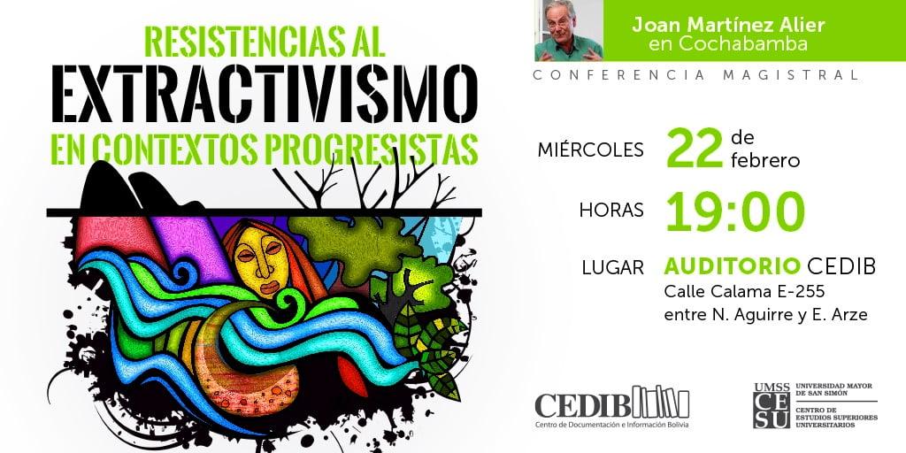 Joan Martinez Alier en Cochabamba