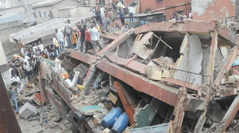 Pupils Trapped as School Building Collapses in Lagos