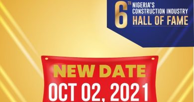 6th Nigeria's Construction Industry Hall Of Fame-2021