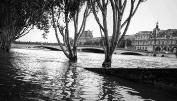 Les quais de Seine inondés en juin 2016 à Paris
