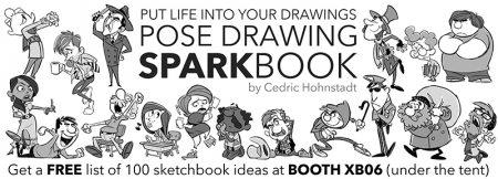 """""""Pose Drawing Sparkbook"""" Ad for CTN Animation Expo"""