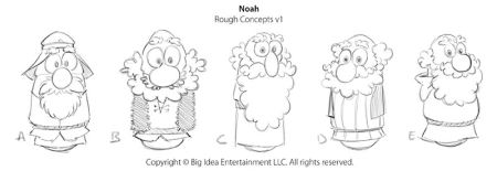 VeggieTales Noah Rough Concepts