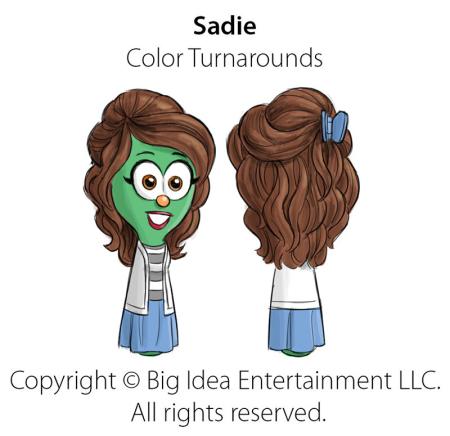 VeggieTales 'Sadie'-Costume Turnarounds