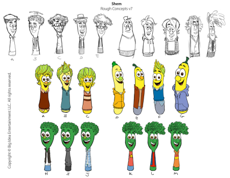 VeggieTales 'Shem' Rough Concepts