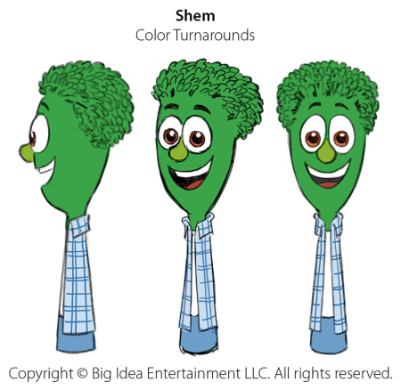 VeggieTales 'Shem' Color Turnarounds