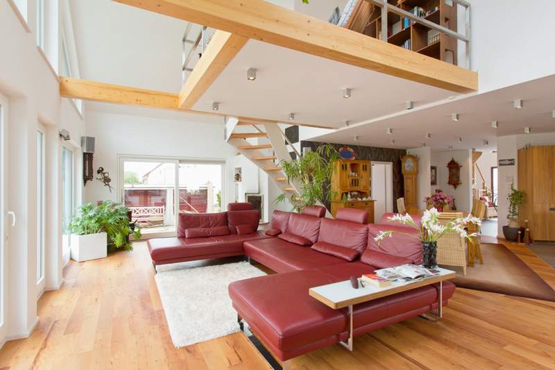 Offene Treppe Wohnzimmer
