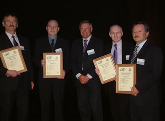 Award presentation for the Carran Hill project