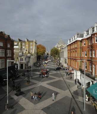 Exhibition Road Streetscape: completed scheme | Copyright: Royal Borough of Kensington and Chelsea (Olivia Woodhouse)