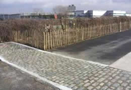 Picture 3: use of reclaimed granite cobbles
