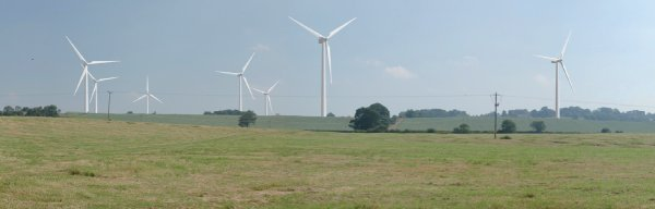 Artists Impression of Winwick Wind Farm
