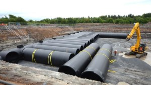 Meadowhead & Stevenston UID Scheme – Work Package 6 - Twin wall Weholite pipes at North Lodge pumping station