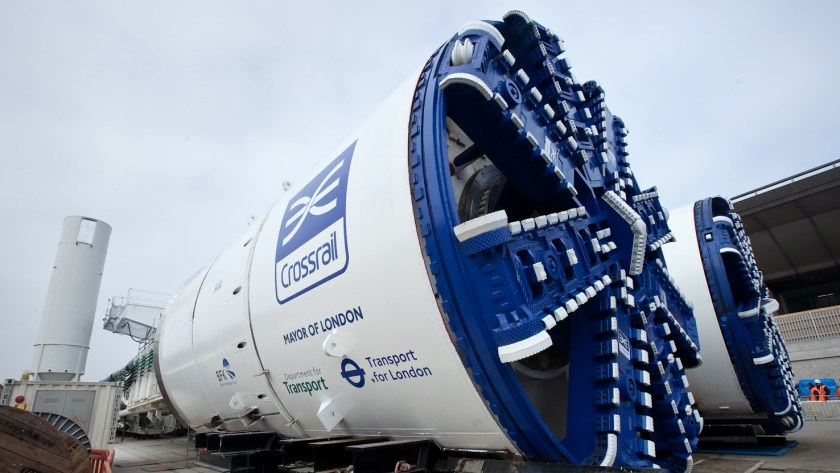 TBMs for Crossrail Western Running Tunnels at Westbourne Park