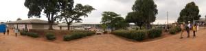 A panorama view of the main complex at Nakaseke hospital
