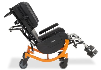 Encore 48v4-side-black-orange-tilt-view