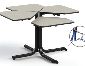 Wheelchair Adjustable table for 4 w chairs