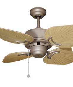 35 inch Bombay Antique Bronze and Tan Ceiling Fan