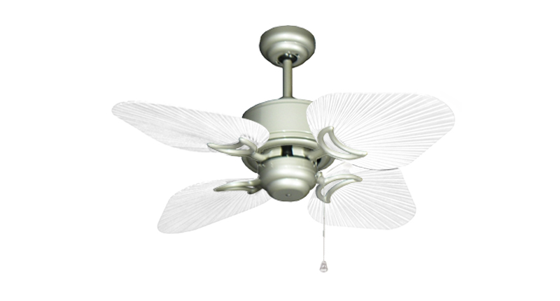 35 inch Bombay Brushed Nickel and Pure White Ceiling Fan
