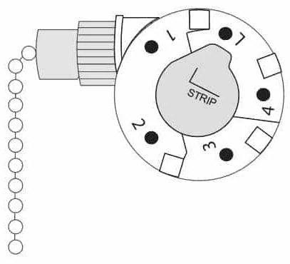 zing ear ze268s5 4 speed 5 wire pull chain ceiling fan switch