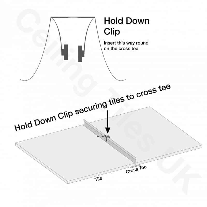 Ceiling Down Armstrong Hold Clips