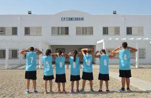 El equipo representante del CEIP Concordia en las Olimpiadas escolares 2016