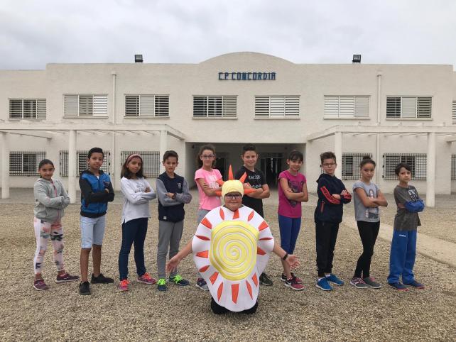 El equipo del CEIP Concordia de Campohermoso que participará en las Olimpiadas escolares 2018 en Sevilla