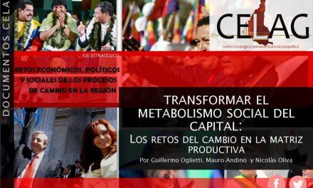 Transformar el metabolismo social del capital: los retos del cambio en la matriz productiva (Por Guillermo Oglietti, Mauro Andino y Nicolás Oliva)