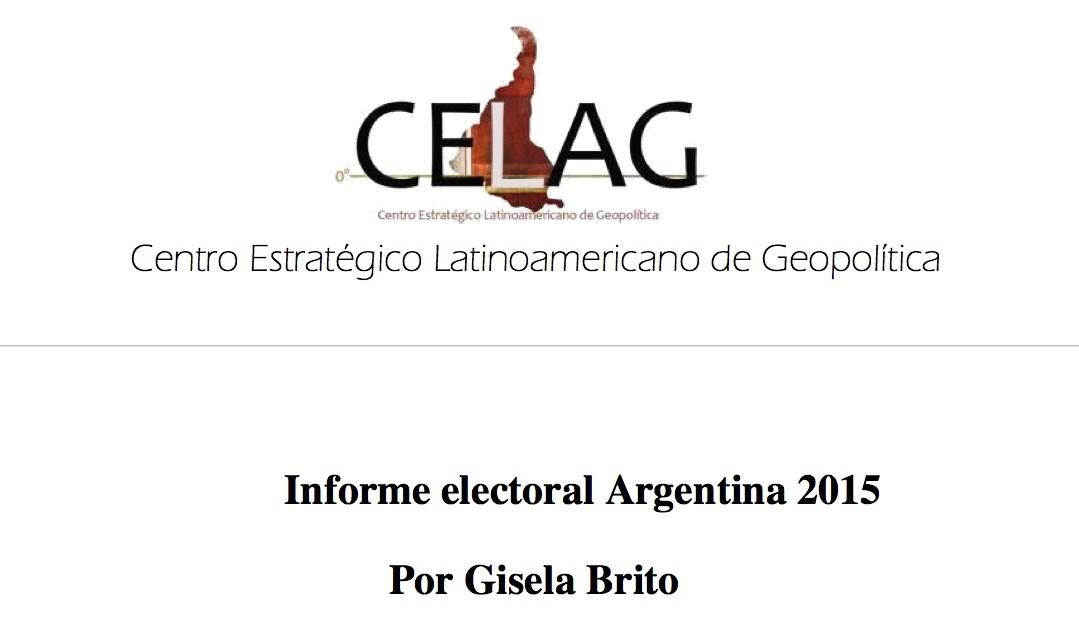 Análisis Elecciones Argentina 2015 (por Gisela Brito)