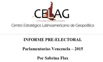 Informe pre-electoral Venezuela 2015 (por Sabrina Flax)