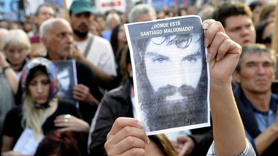 Santiago Maldonado, desdibujando al Estado de Derecho