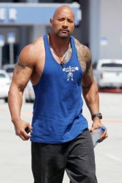 The Rock Chest Biceps size