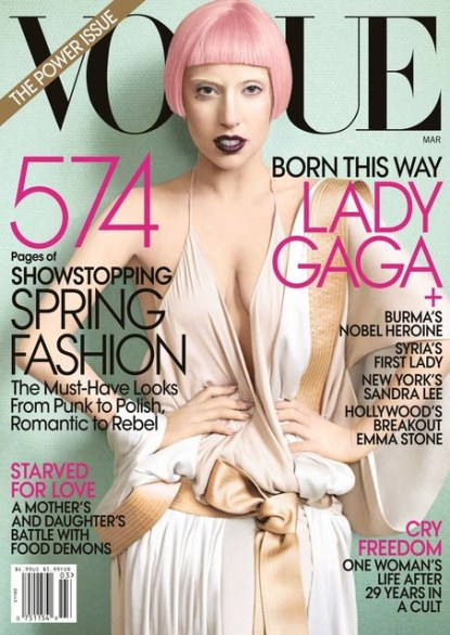 Lady Gaga Vogue March 2011 Cover & Photoshoot Pics