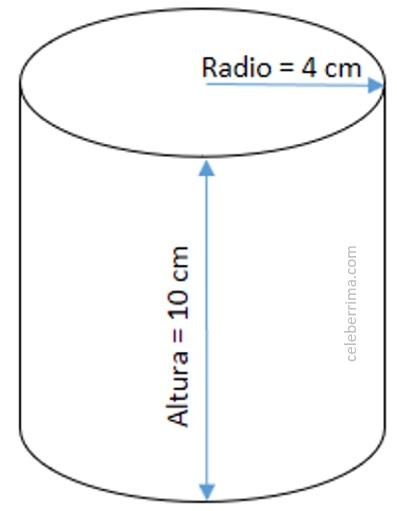 Ejemplo Y Fórmula Volumen De Un Cilindro Celebérrima Com