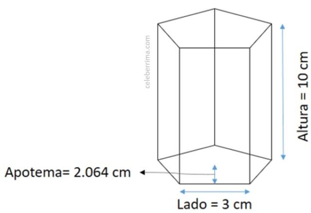 Ejemplo y fórmula volumen de un prisma recto - Celebérrima com