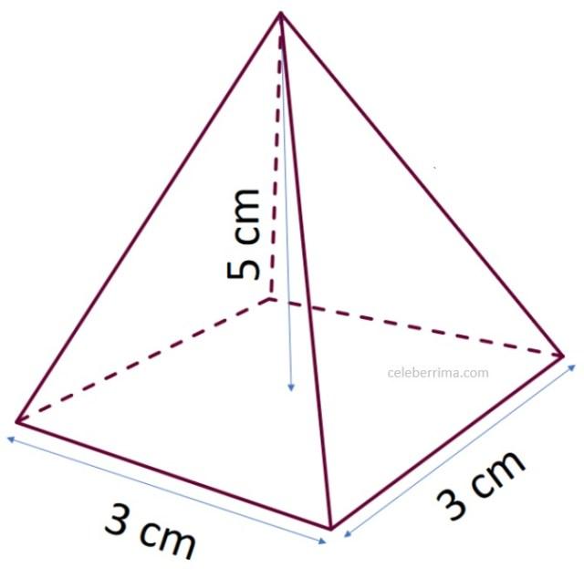 Ejemplo Y Fórmula Volumen De Una Pirámide Base Cuadrangular Celebérrima Com