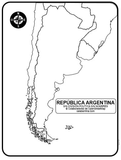 Mapa De La República Argentina Con Nombres De Provincias Y