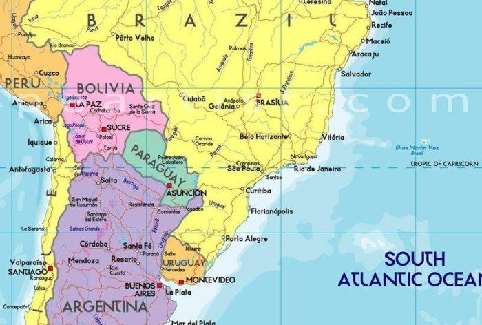 güney-amerika-haritası