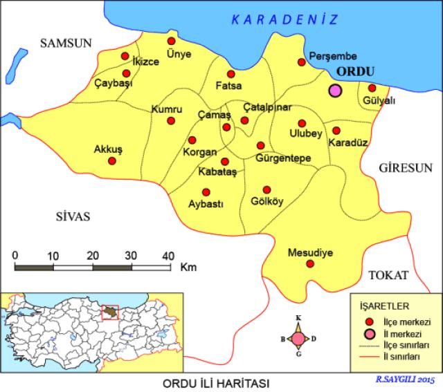 ordu harita